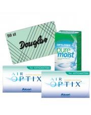 2x Air Optix for Astigmatism 6 szt. + Pure Moist 300 ml + karta Douglas 50 zł GRATIS!