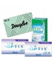 2x Air Optix Multifocal 6 szt. + Pure Moist 300 ml + karta Douglas 50 zł GRATIS!