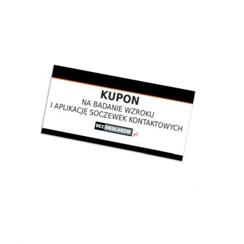 Kupon na wykonanie badania wzroku i aplikacji soczewek kontaktowych ACUVUE®