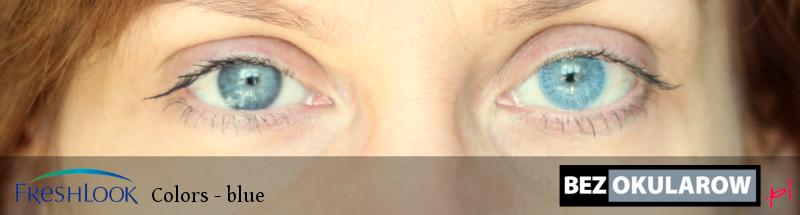 kolorowe soczewki na oczach